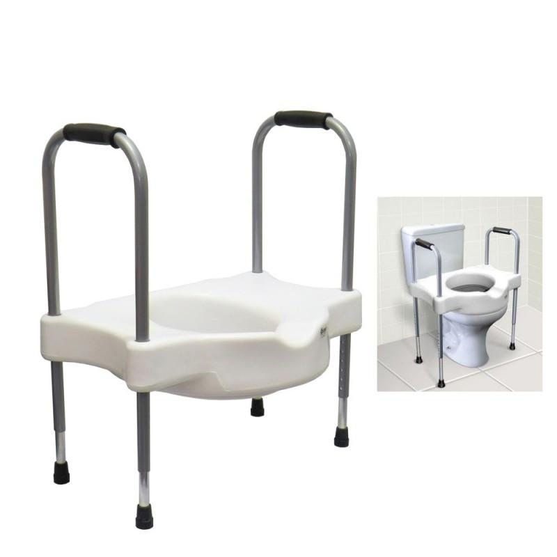 e9689127836f Assento elevado para sanitário com alças reguláveis Sit V Carci