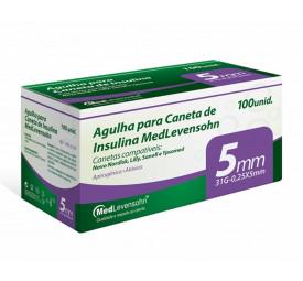 Agulha para Caneta de Insulina 5mm, 31G-0,25x5mm C/100 - MedLevensohn