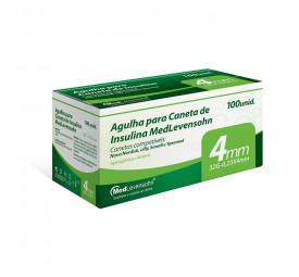 Agulha para Caneta de Insulina 4mm, 32G - 0,23x4mm C/100 - MedLevensohn