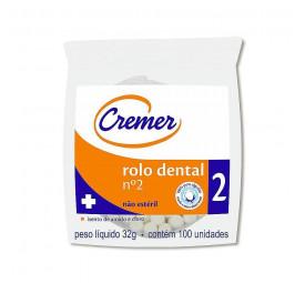 Algodão Rolo Dental n°2  C/100-Cremer
