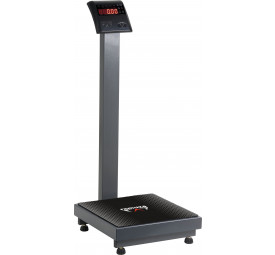 Balança digital com régua antropométria 200 kg cor preta Ramuza