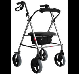 Andador com 4 rodas, assento e cesta – Mercur