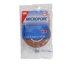 Fita micropore hipoalergênico 3M bege 12,5cm x 10m