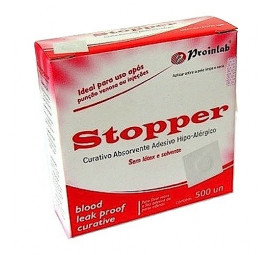 Curativo Quadrado Branco C/500- Stopper