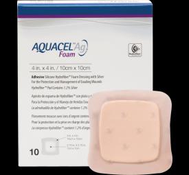 Curativo adesivo de hidrofibra Aquacel Ag Foam - Convatec 10x10cm