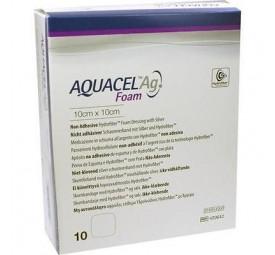 Curativo hidrofibra Aquacel Ag Foam - Convatec 10x10cm