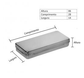 Estojo de Inox Liso 28x14x06cm - Fami