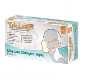 Máscara Descartável Tripla com Elástico C/50- Talge