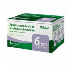 Agulha para Caneta de Insulina 6mm, 31G-0,25x6mm C/100 - MedLevensohn