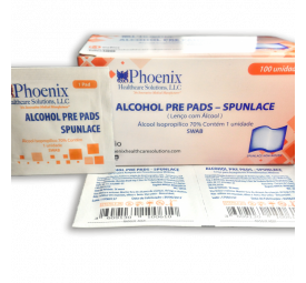 Swabs Lenço com Álcool C/100 - Phoenix