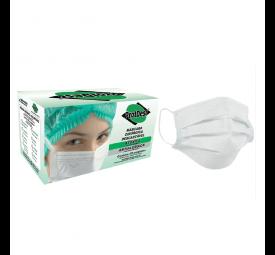 Máscara Descartável Tripla com Elástico Branca C/50- ProtDesc