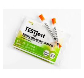 Seringas Testject 0,5ml com agulha 8x0,3mm Testline - com 10