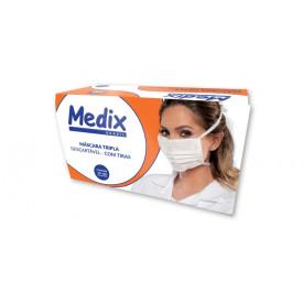 Máscara Descartável Tripla com Elástico C/50- Medix