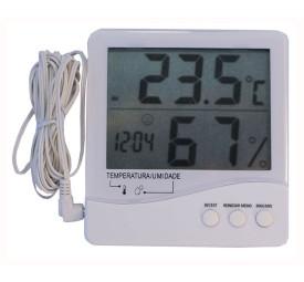 Termômetro Termo-Higrômetro C/ Cabo Máx/Min- Incoterm
